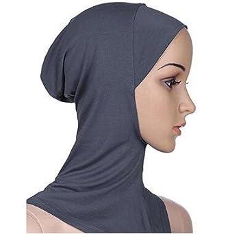 Yolandabecool Cappello Musulmano a Cuffia con Cappuccio Islamico Integrale con Cappuccio Integrale Hijab da Donna