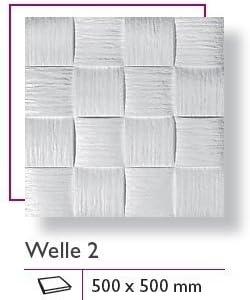 1 M/² carreaux plaques polystyr/ène de plaques de plafond d/écor stuc 50 x 50 cm WELLE 2
