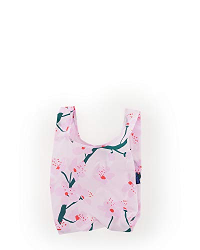 - BAGGU Small Reusable Shopping Bag, Ripstop Nylon Grocery Tote or Lunch Bag, Recycled Cherry Blossom