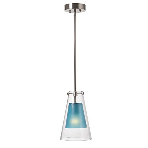 Kenroy Home 93105BLU Wolf 1 Light Mini Pendant, Blue