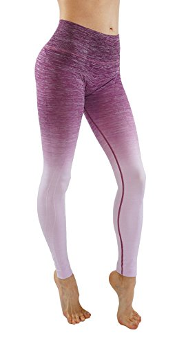 Women's Flexible Yoga Pants Ombre Leggings Activewaer L704 (M, Barry-L704)
