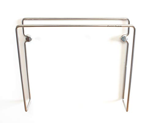 Wall Mounted Bathroom Magazine Rack - Plew Plew - Bathroom Magazine Holder Rack, Stainless Steel, Wall Mounted (7.1 L x 6.3 H x 1.6 D inches)