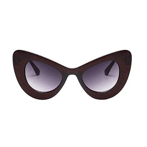 (Big Oversized Thick Gothic Vintage Sunglasses Women Classic Cat Eye Plastic Beautyfine )