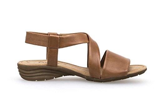 plana Cuña Cuña Mujer best cómodo De sandalias übergrößen sandalias Cognac Del 550 24 Fitting Gabor Verano zapatos sandalias wOXqFF