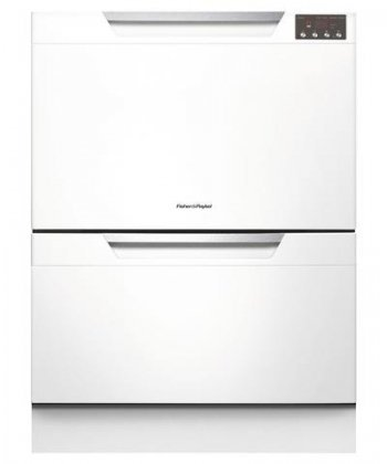 Fisher & Paykel DD24DAW8 Semi-Integrated Double Dishdrawer with 14 Place Settings, 9 Wash Cycles, SmartDrive Technology, Eco Option and Energy Star Rated: White by Fisher & Paykel