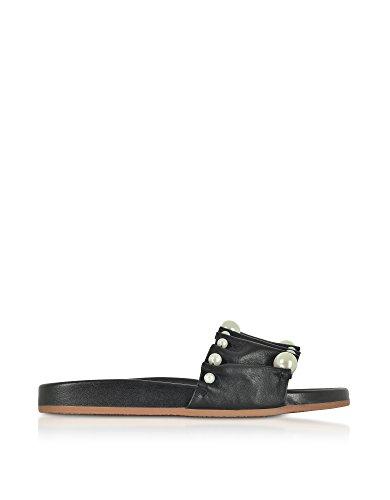 charlotte olympia Women's Ols1857171437 Black Leather Sandals