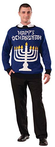 Lite-Up Menorah Chanukah Sweater