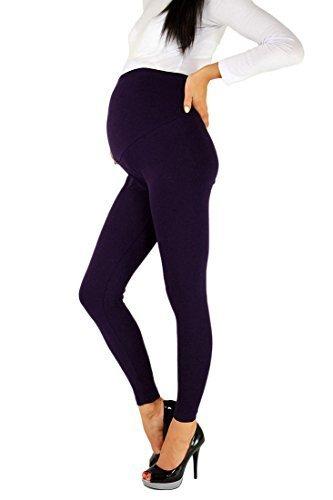 Futuro Fashion - Leggings para embarazadas (algodón, todas las tallas) morado