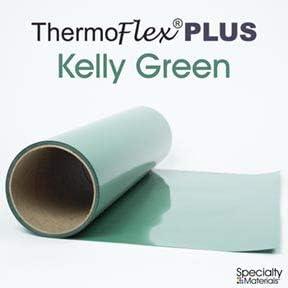 "Kelly Green Thermoflex Plus 15/"" by 3 Feet  Heat Transfer Vinyl"