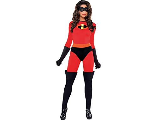 Party City The Incredibles Mrs. Incredible Halloween Costume for Women, Small, with Included Accessories