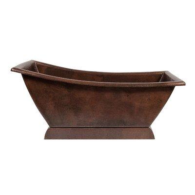 (67 in. Hammered Copper Canoa Single Slipper Bathtub)