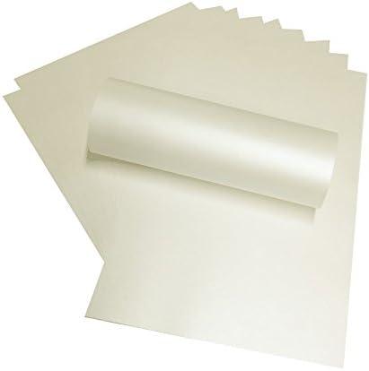 50x A4, Blass Elfenbeinfarben Quarzo Perlglanz Papier 120g/m² geeignet für Inkjet und Laser Drucker (pia4–4)