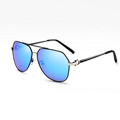 Para Polarizadas Diseño De De C Protección Gafas De Sol Gafas De Gafas Haz Hombre Gafas Sol Doble Sol Vintage De De A De UV400 Diseño Color Geometría HAIYING Cq8tx