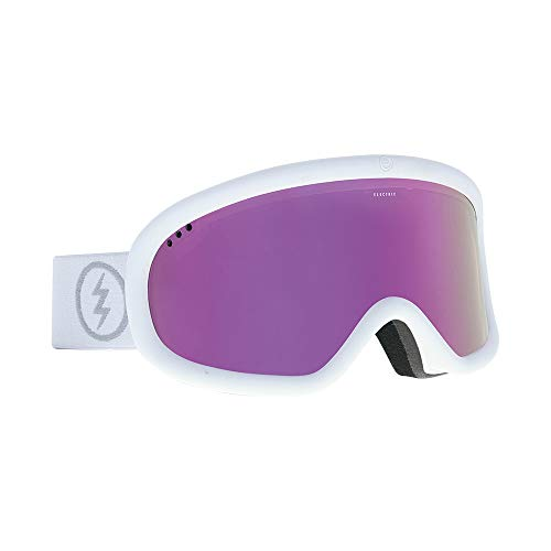 Electric Charger Ski Goggles, Matte White/Brose/Pink Chrome
