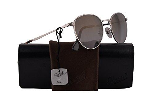 Persol PO2445S Sunglasses Silver w/Polarized Dark Grey Gradient Lens 52mm 518M3 PO 2445-S PO2445-S PO 2445S (Sunglasses Silver Persol)