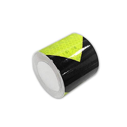 Cinta adhesiva reflectante flecha, Verde-negro, 5cmx10m(2'x394')