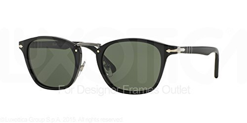 Persol Men's PO3110S Sunglasses Black / Green - Black Persol