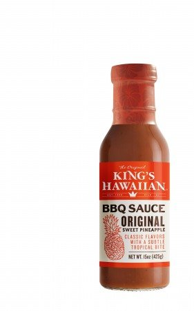 King's Hawaiian BBQ Sauce Original Sweet Pineapple 15oz 1 Pack