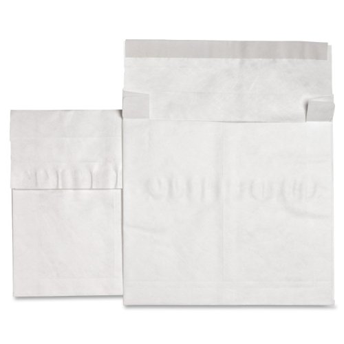 Envelopes Expansion Plain White End (Sparco Tyvek Open-End Envelopes, Plain, 12 x 16 x 4 Inches, 50-Count, White (SPR25005))