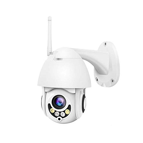Outdoor Security Camera, 1080P WiFi IP Home Surveillance Cameras, Moosmooce WiFi and Wired Connection Pan/Tilt/Zoom with Night Vision 2 Way Audio Motion/Sound Detection Works on Smart Phones