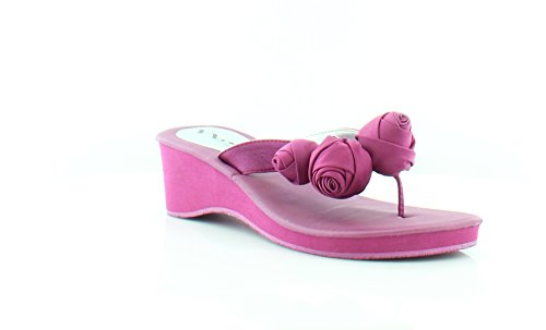 Fuschia Satin Sandals (Nina Jaqui Women's Sandals & Flip Flops Fuschia Size 7.5 W)