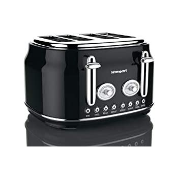 Homeart Artisan Toaster, 4 Slice, Black