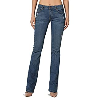 TheMogan Women's Washed Stretch Denim 32 Mid Rise Slim Boot Cut Jeans Medium 9