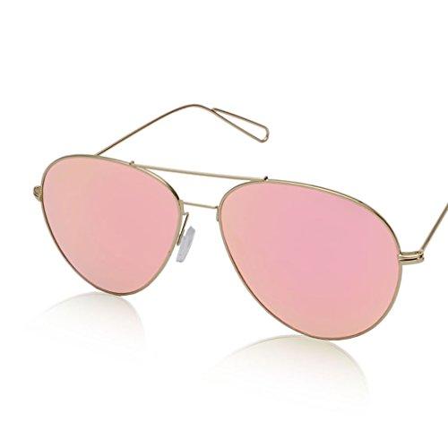 厚くする深い笑メガネ?サングラス 超軽量メタルラージフレームサングラス/明るい色のフィルムメンズと女性の反射サングラス (色 : 1)