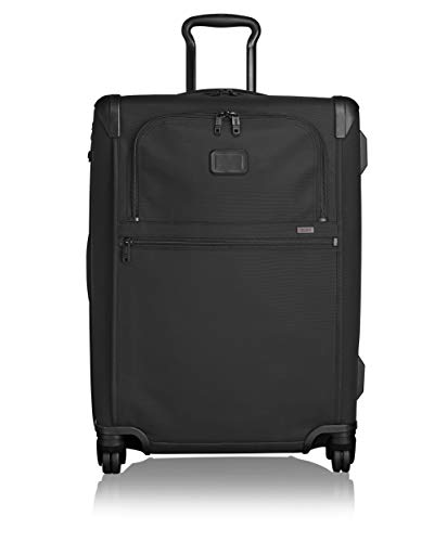 TUMI - Alpha 2 Short Trip Expandable 4 Wheeled Packing Case Medium Suitcase - Rolling Luggage for Men and Women - Black
