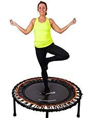 Fit Bounce Pro II Bungee-trampoline opvouwbaar komma stil en mooi geconstrueerd professionele oefen trampoline voor volwassenen | Inclusief fitness-dvd en online workouts plus opbergtas Gebruikersgewicht 150kgs