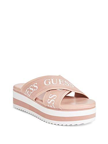 (GUESS Factory Women's Moxi Logo Strap Platform Sandals)