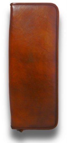 Pratesi Italian Leather Buontalenti - Tie case, Brown by Pratesi Leather