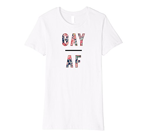 Womens Gay AF t-shirt, LGBTQ+, pride, love, equality, lesbian Large - T-shirt Marriage White Gay