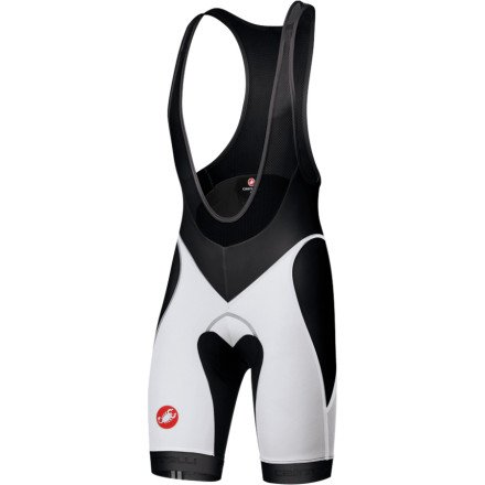 Castelli Velocissimo Bib Short - Men's Black/White, XL by Castelli