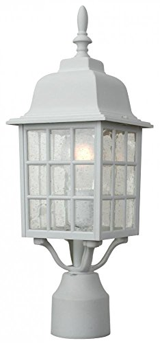Craftmade Lighting Z275-TW Grid Cage - One Outdoor Medium Post Light, Matte White Finish from Craftmade Lighting