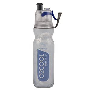 O2COOL ArcticSqueeze Insulated Mist 'N Sip Squeeze Bottle 20 oz., Blue