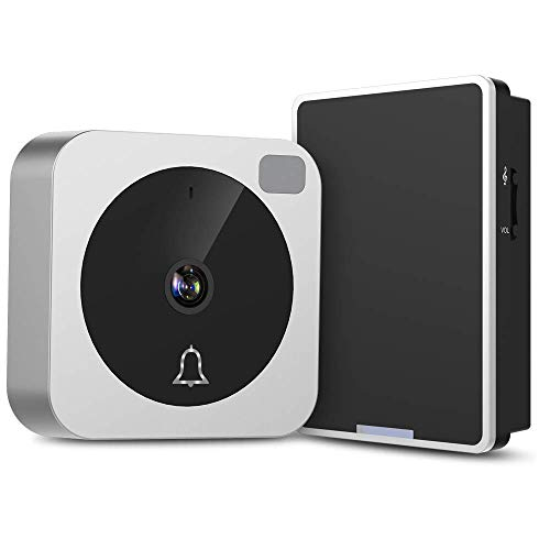 Video Doorbell – NETVUE Wireless Doorbell Camera with Two-Way Talk, IR Motion Detection, Night Vision, Compatible with Alexa Echo Show, WiFi Camera Doorbell with Cloud Storage [Wall Plug Included]