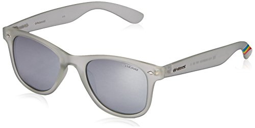 Polaroid Sunglasses PLD6009NM Wayfarer Polarized Sunglasses, Crystal & Gray Silver Mirror Polarized, 50 - 50 22 Wayfarer
