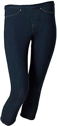 HUE Womens Original Denim Capri Leggings (Midnight Rinse, X-Small 0-2)