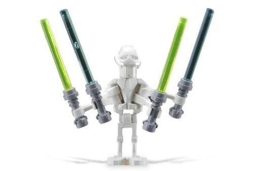 - LEGO Star Wars Minifigure General Grievous with 4 Lightsabers from Set 7255 General Grievous Chase