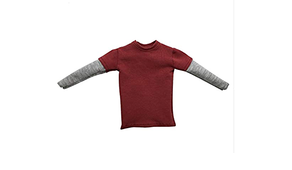 1//6 Scale Short Long Sleeve T-shirts Top 12/'/' Male Figure Clothes Accessories