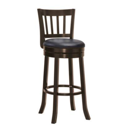 The Ivy Collections Colonial Style Wooden Bar Stool with Pu Leather Cushion (Set of 2)