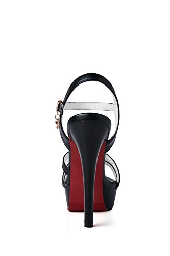 AN Womens Solid Firm-Ground Non-Marking Urethane Sandals DIU00814 Black Igrdg