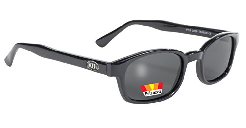 Pacific Coast Original KD's Polarized Biker Sunglasses (Black Frame/Dark Grey - Sunglasses Coast