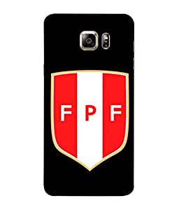 ColorKing Football Peru 08 Black shell case cover for Samsung S6 Edge Plus