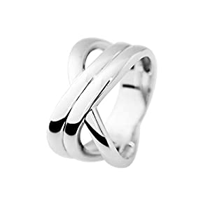 ESSENS – Waves Ring – 925 Sterling Silver – Available from Size K to Z – Women's Jewellery