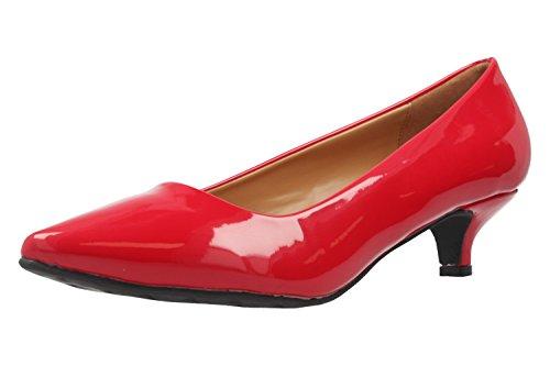 Andres Machado - Zapatos de vestir de Material Sintético para mujer rojo rojo