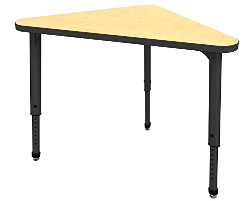 Marco Group 38-2272-50-BLK Apex Series Triangle Adjustable Desk, 39.5