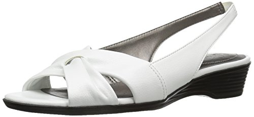 Sandals Stretch Lifestride - LifeStride Women's Mimosa 2 Flat Sandal, Bright White, 8.5 M US