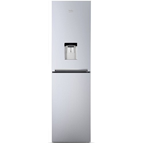 Beko CFG1582DS A+ Frost Free Fridge Freezer with Stored Water Dispenser in Silver